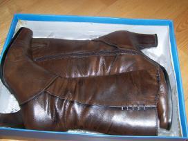 Odiniai batai žiemai su natūraliu kailiu 38 d.