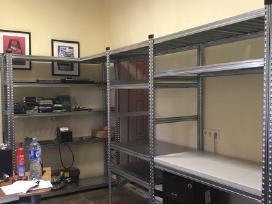 Stelazai, metalines sandeliavimo lentynos