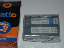 Canon Lp-e8 Nikon En-el3e En-el15 baterijos