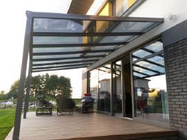 Stoginės, verandos, terasos, jų stiklinimas