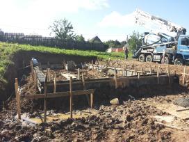 Pamatai,tvoros ir visi betonavimo darbai. Cfa. - nuotraukos Nr. 19