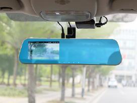 Vaizdo registratorius veidrodėlis su galine kamera