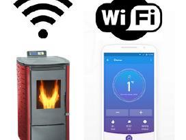 Granulinė krosnelė 6kw su Wi-fi