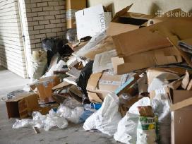 Statybinių atliekų šiukšlių išvežimas griovimas