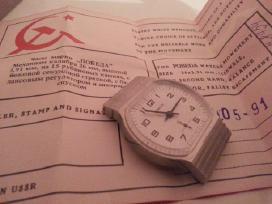 Naujas tarybinis rankinis laikrodis pobeda - nuotraukos Nr. 5