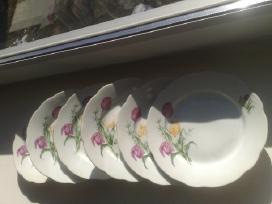 6 porcelianinės lėkštės