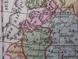 Žemėlapis. Rusija / Lietuva. 1821m. Maire. - nuotraukos Nr. 2