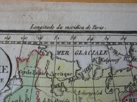 Žemėlapis. Rusija / Lietuva. 1821m. Maire. - nuotraukos Nr. 4