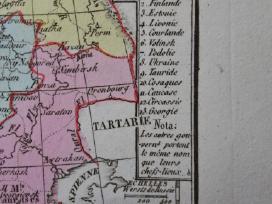 Žemėlapis. Rusija / Lietuva. 1821m. Maire. - nuotraukos Nr. 5