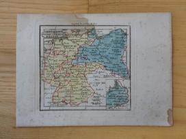 Žemėlapis. Prūsija / Lenkija. 1821m. Maire. - nuotraukos Nr. 2