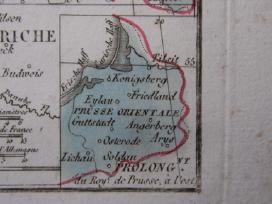 Žemėlapis. Prūsija / Lenkija. 1821m. Maire. - nuotraukos Nr. 3