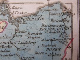 Žemėlapis. Prūsija / Lenkija. 1821m. Maire. - nuotraukos Nr. 5