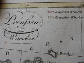 Žemėlapis. Prūsija/ Lenkija/ Lietuva.1808m. Walch. - nuotraukos Nr. 3