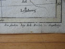 Žemėlapis. Prūsija/ Lenkija/ Lietuva.1808m. Walch. - nuotraukos Nr. 5