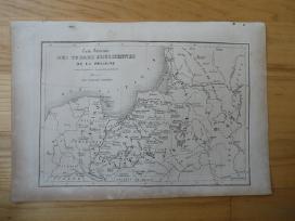 Žemėlapis. Lietuva / Lenkija. 1836m. Chodzko. - nuotraukos Nr. 2
