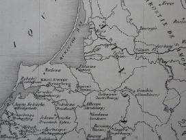 Žemėlapis. Lietuva / Lenkija. 1836m. Chodzko. - nuotraukos Nr. 4
