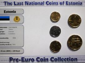 Pries euro buvusiu monetu rinkiniai