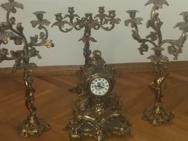 Retro Laikrodis.zvakides.liustras. - nuotraukos Nr. 4