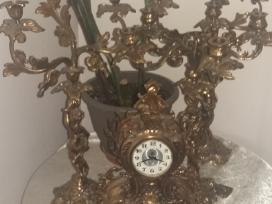 Retro Laikrodis.zvakides.liustras. - nuotraukos Nr. 2