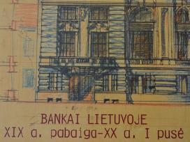 Bankai Lietuvoje. XIX a.–XX a. Foto., Atvirukuose