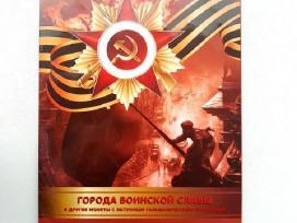 Rusijos 10 rub,monetas sloves miestai su albumu