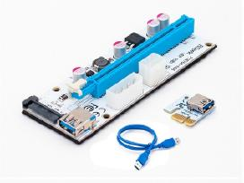 Riser Adapter Pcie 16x to 1x, Usb 3.0 ver008s