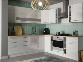 Geras virtuvės komplektas,blizgios baltos durelės
