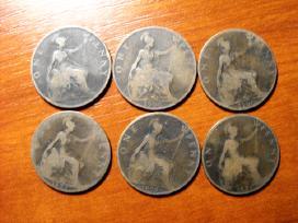 Didžiosios Britanijos 1 penny.