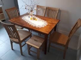 Stalas ir azuolines kedes 6 vnt, yra ir tabureciu