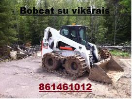 Bobcat S250 Nuoma nuo 21€/val,polių grežimas - nuotraukos Nr. 4
