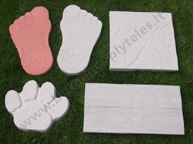 Plytelės takeliams, pėdutės, 45x45cm, 60x30cm