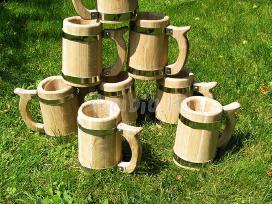 Mediniai duonkubiliai, kibirai, bokalai, kubilai.. - nuotraukos Nr. 8