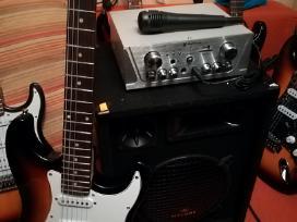 Nauji gitara,kolonele,stiprintuvas komplektas
