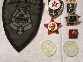 Ženkliukai,emblema,žetonai.