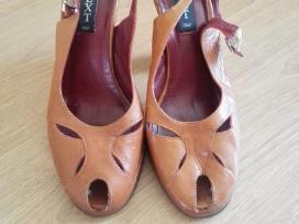 Basutės odines rudos, 38 dydis