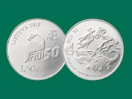 2018 m - 1,5 eurų monetos - Fizikų dienai Fidi 50