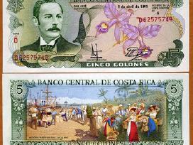 Kosta Rika 5 Colones 1989m. P236 Unc