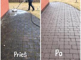 Trinkelių fasadų stogų valymas/plovimas