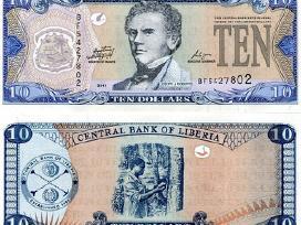Liberija 10 Dolleriu 2011m. P27 Unc