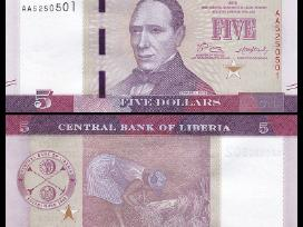 Liberija 5 Dollars 2016(2017)m. P-new Unc