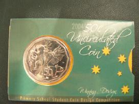 Australija 50centu gyvunai korteleje(coin card)
