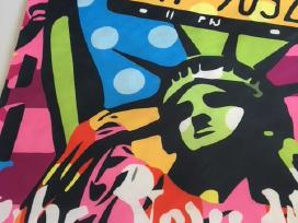 Drobė Laisvės skulptūra ir Niujorkas
