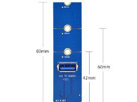 M.2 Ngff perėjimas adapteris į Pci-e Usb3.0