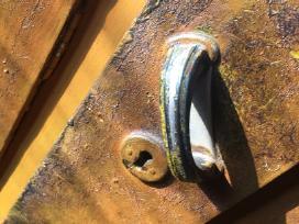 Senovinė medinė spinta pušinė