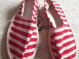 Nauji tekstiliniai red&white batukai