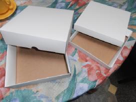 Naujos kartoninės dviejų dalių dežutės
