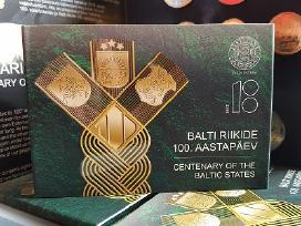 Estijos valstybės atkūrimo 100-čiui 2 € kortelėje