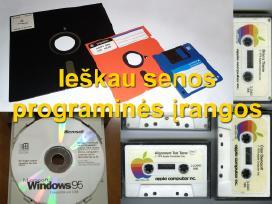 Ieškau senos programinės įrangos, flopikų, kasečių