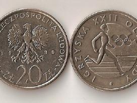 Lenkija 1980 20zl. Olimpiada