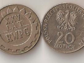 Lenkija 1974 20zl. Xxv lat Pwpg